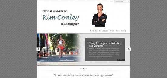 Web Design Website Site Graphic Design Olympian Kim Conley Olympics Athlete Runner Run