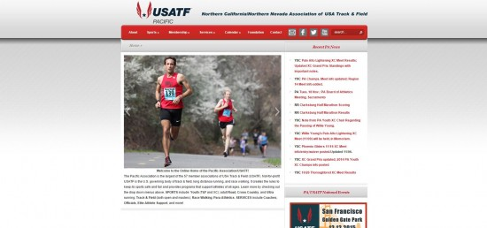 Web Design Website Site Graphic Design USATF PAUSATF United States America Pacific Association